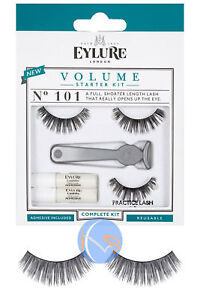 9d90a3e667b Eylure Eyelashes Volume No.101 False Lash Starter Kit 5011522099743 ...