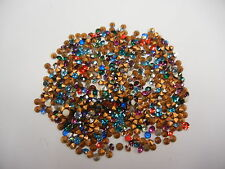 500 swarovski rhinestones,24pp assorted colors/foiled #1100