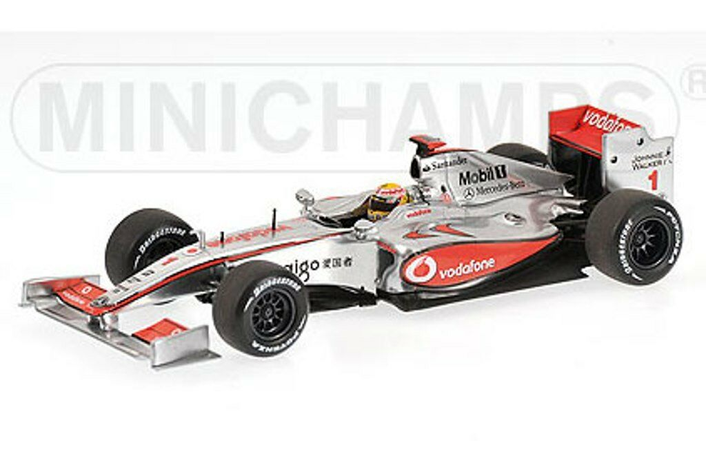 MINICHAMPS 530 094371 McLAREN MERCEDES model F1 car L Hamilton Showcar 2009 1 43