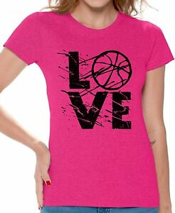 LOVE-Basketball-Women-039-s-T-shirt-Tops-Gift-for-Basketball-Player-Game-Day
