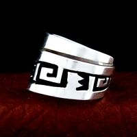 T & R Singer Navajo Handmade Sterling Silver Band Ring Size 11 --- R80 B