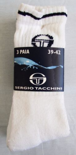 uomo 3 per pack Calzini Sergio TACCHINI da tennis in spugna cotone donna