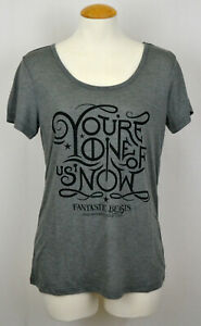 Harry Potter T-shirt Fantastic Beasts One of Us Now Women's Graphic Tee Gray NWT