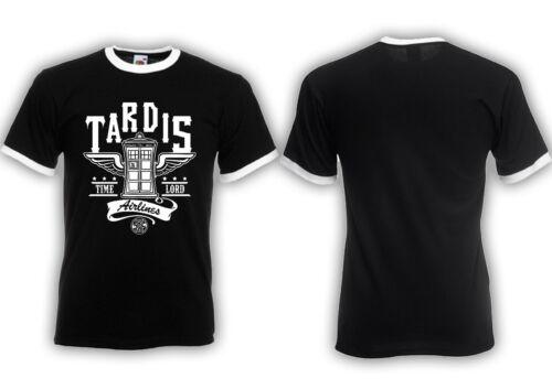 Tardis Airlines Ringer T-Shirt Time Lord culte film Gallifrey University