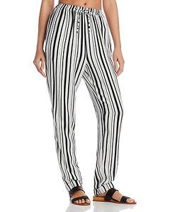e3c12699a65 MINKPINK Rivera Getaway Swim Cover-Up Pants Black/White Size Large ...