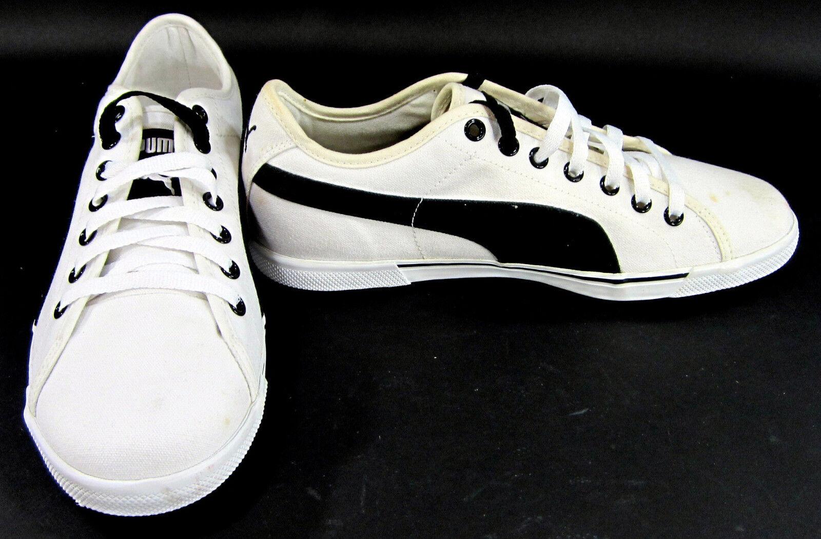 Zapatos  De Lona Zapatillas Atlético Benecio Puma Blanco/Negro Zapatillas Lona Tamaño 8.5 f8ddb4