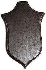 TROPHY SHIELD PLAQUE PLATE ROE BUCK STALKING OAK wood WALL HANGING HORN PLATE