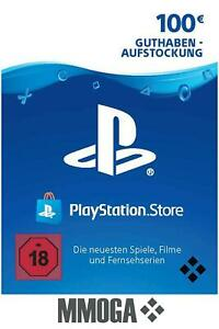 100€ PSN Card PlayStation Network Guthaben Code - 100 EURO PS4 PS3 PS Vita - DE