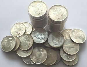 1-Uncirculated-BU-1922-1926-PEACE-SILVER-DOLLAR-US-COIN-LOT
