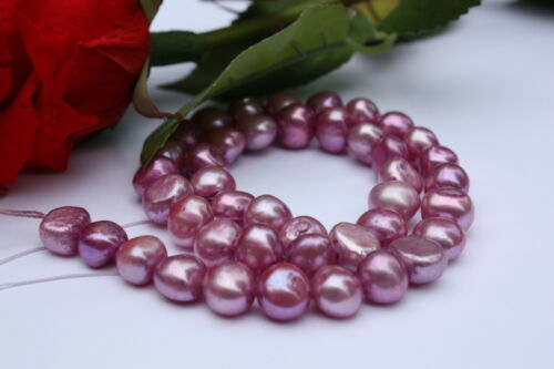 9-10mm barock Set  Zuchtperlen Strang Süßwasser Perlen Schmuck Ketten Halsketten