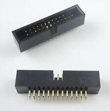 10PCS DC3 10P 2.54mm 2x5 Pin 10 Pin Straight Male Shrouded Header IDC Socket JQJ
