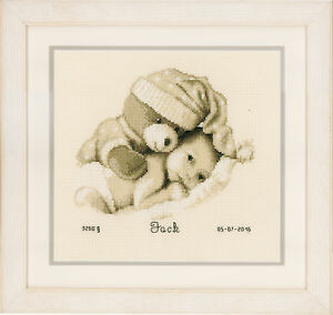 Baby-Teddy-Birth-Record-Vervaco-Counted-Cross-Stitch-Kit-PN0155574