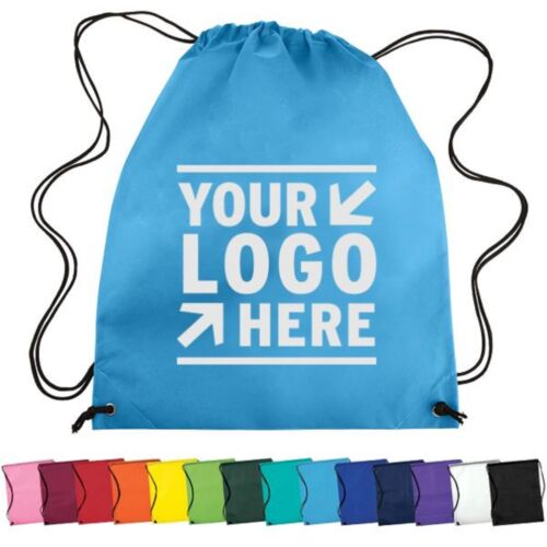 150 Personalized Nonwoven Drawstring Backpack Printed with your Logo or Message