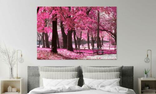 Beautiful Cherry blossoms Pink Trees Print Home Decor Wall Art choose your size
