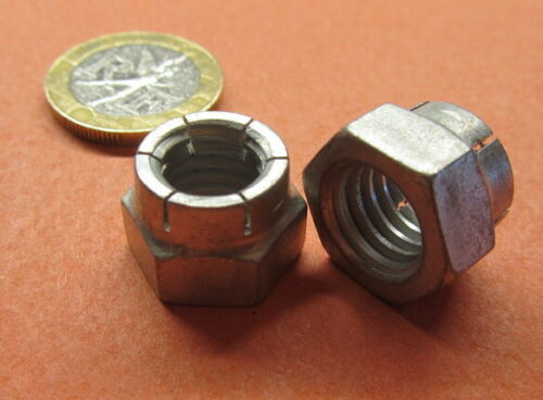 "7//16/""-14 x 5//8/"" W x 15//32/"" H Cadmium Plated FlexLoc Hex Nut RH 5 Pc"