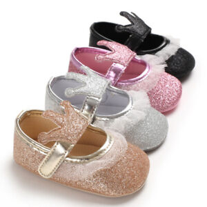 Baby Girl Crown Crib Shoes Infant Kid