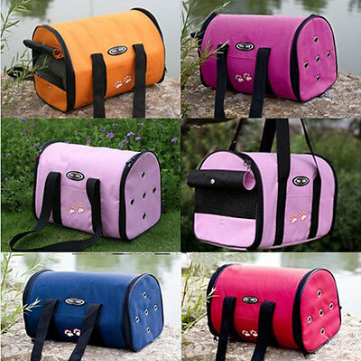 New Portable Folding Fabric Canvas Pet Dog Cat Travel Carrier Backpack Tote Bag
