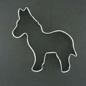 """... DONKEY 3.75"""" METAL COOKIE CUTTER FONDANT CLAY STENCIL PARTY FAVORS NEW"""