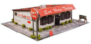Details about 1:48 Scale O Gauge Diner Photo Real Scale Building Kits  Diorama Track Layout Set