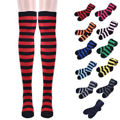 2017 Arrival Thigh High Socks Over Knee Girls Fringe Socks Stripes Pattern  Sale