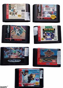 Vintage Lot of 7 Sega Genesis Video Game Cartridges Authentic Not Tested