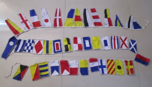 Beach Party Navy Signal Code FLAG U.S String of 40 flags Bunting 12 Feet