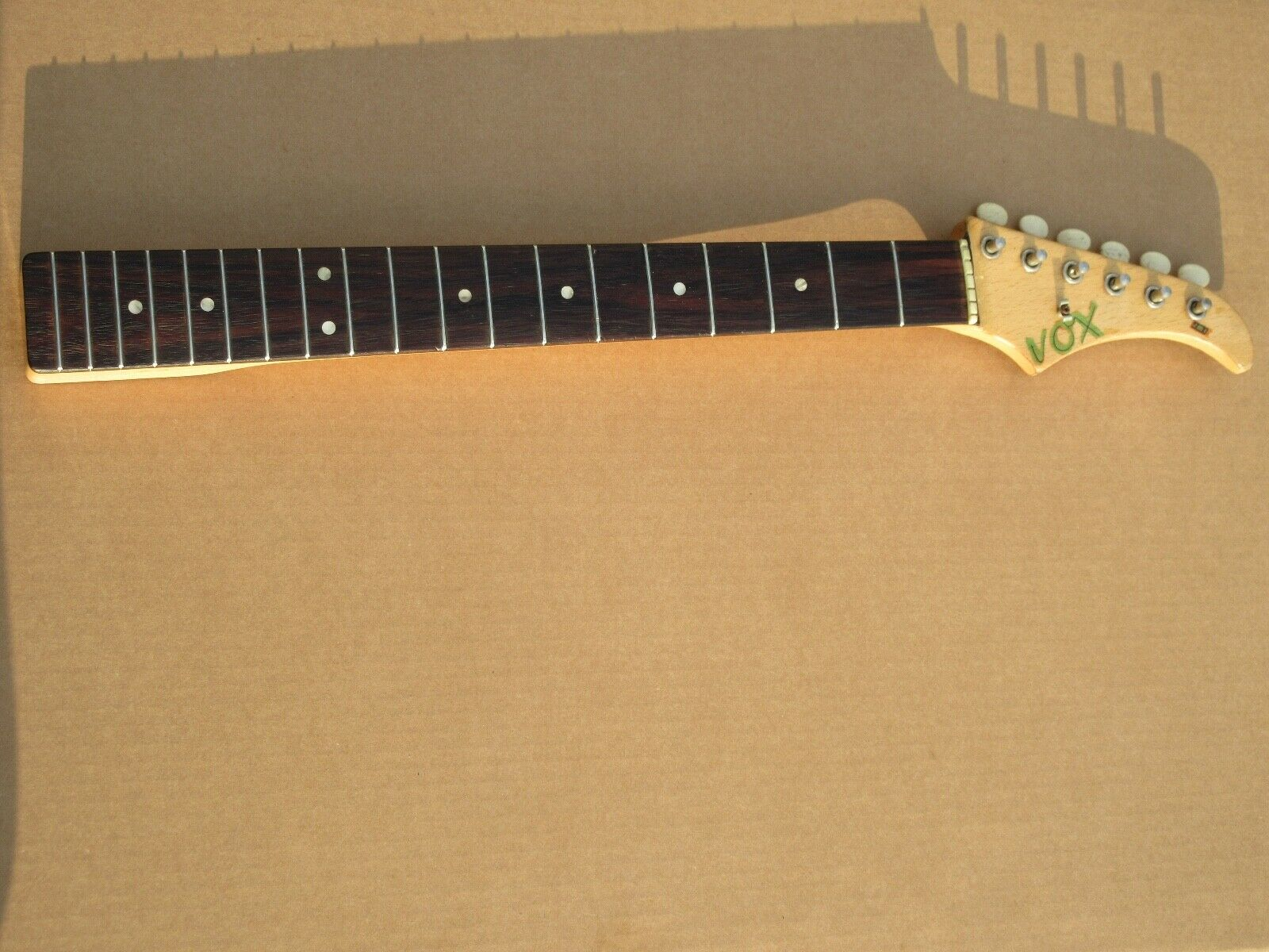 Vintage 1960s Vox JMI Guitar Neck With Tuners