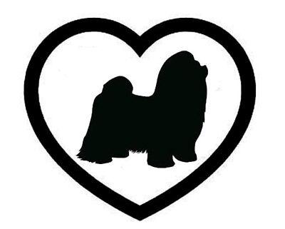 Shih Tzu Coeur Autocollant Vinyle Autocollant chien race choisir couleur taille