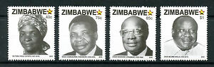 Zimbabwe 2016 MNH National Heroes 4v Set Politicians People on Stamps