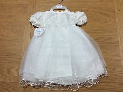 BNWT SPECIAL OCCASIONS CHRISTENING GOWN 0-3 MONTHS