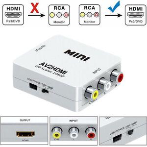 Mini RCA AV vers HDMI Convertisseur Adaptateur AV2HDMI Converter 1080P HDTV/DVD