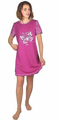 df024 Gr. Obedient Damen-nachthemd Bigshirt Sleepshirt 44-46 Baumwolle Jersey