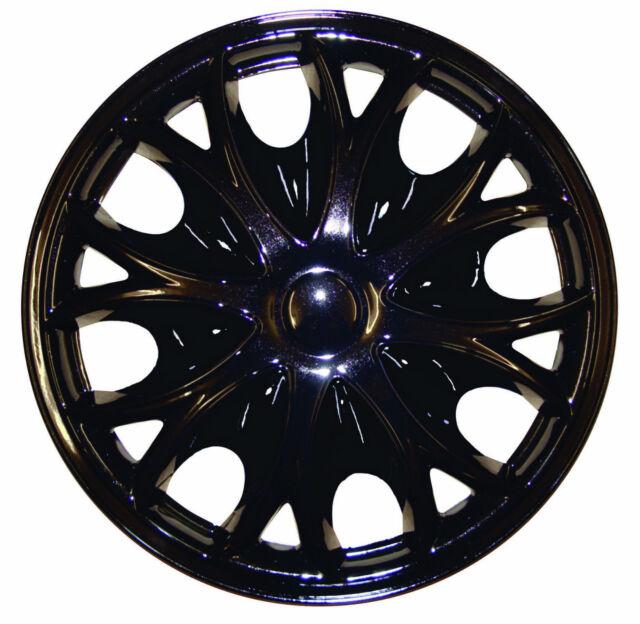 "Universal HONDA 15"" Inch Wheel Trims Hup Cap 4 piece set in BLACK"