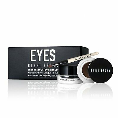 Bobbi Brown Long Wear Gel Eyeliner Set Gel eyeliner x2 & eyeliner brush x1