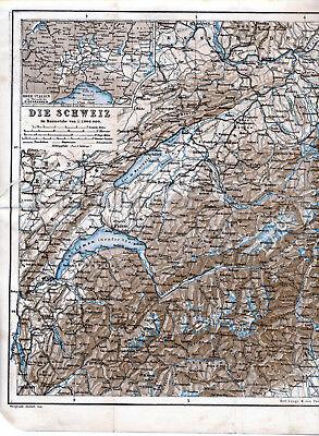 2019 Neuer Stil Die Schweiz 1893 + 1927 Orig. Landkarten Bern Lugano Zürich Basel Lausanne Chur Chinesische Aromen Besitzen