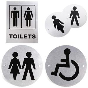 aluminium alloy toilet entrance sign door decor bathroom wc restroom