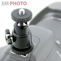 Kugelkopf Kugelgelenk Blitzschuh Adapter 1/4 Stativ Gewinde Für Foto Video 72