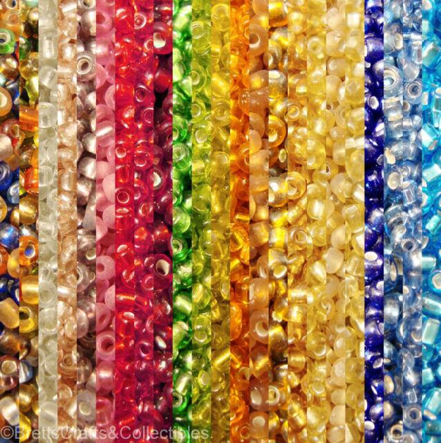#10/0 - Spheroid Silver-Lined Glass Seed Beads (40 grams / 1.40oz per Bag)