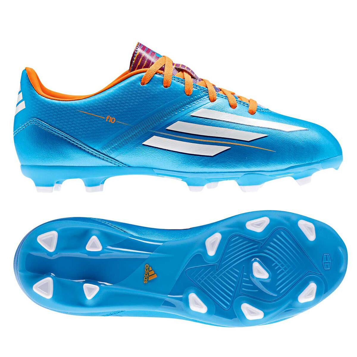 Adidas F 10 SP World Cup WC 2014 TRX FG Soccer shoes bluee   White KIDS - YOUTH