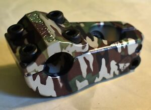 S/&M BIKES CREDENCE TURTLENECK STEM camouflage TURTLE NECK CCR 52 BMX BIKE CAMO