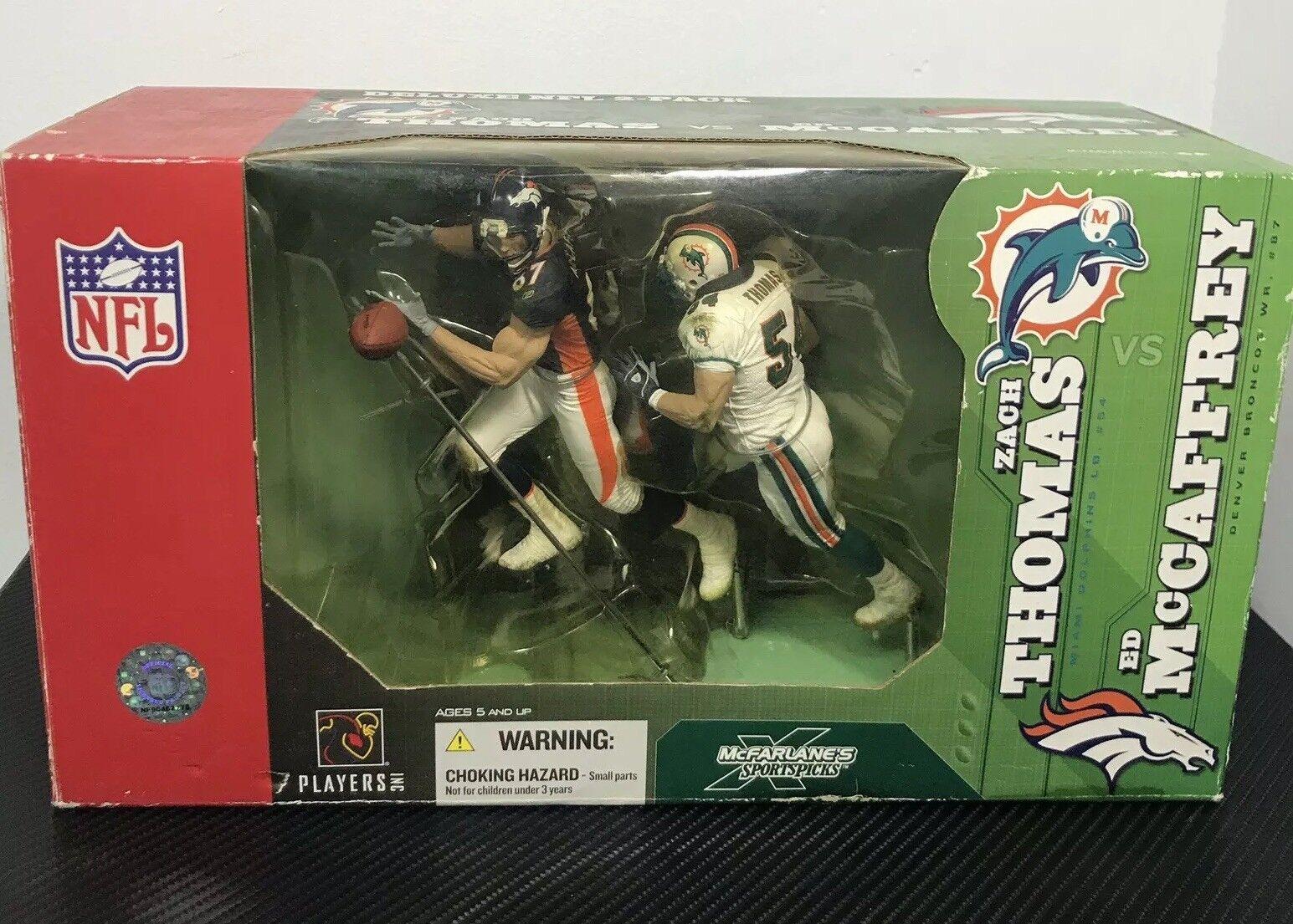 McFarlane Ed McCaffrey (Broncos) vs. Zach Thomas (Delfines) Deluxe NFL 2-Pack