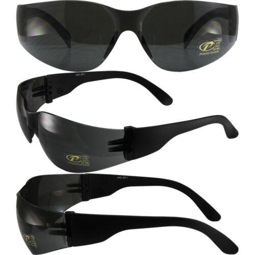 Mask Black Frame Smoke Lens Unisex Biker Wrap Around Motorcycle Sunglasses