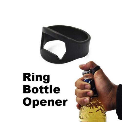 Unique Stainless Steel Finger Ring Bottle Opener Beer Bar Tool RS
