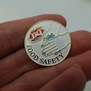 DQ Dairy Queen Pin Back Label Food Safety