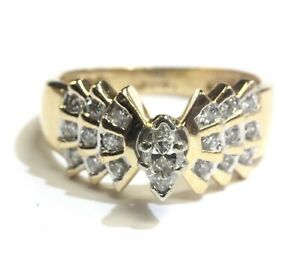 14k-yellow-gold-52ct-marquise-diamond-engagement-ring-4-8g-vintage-estate