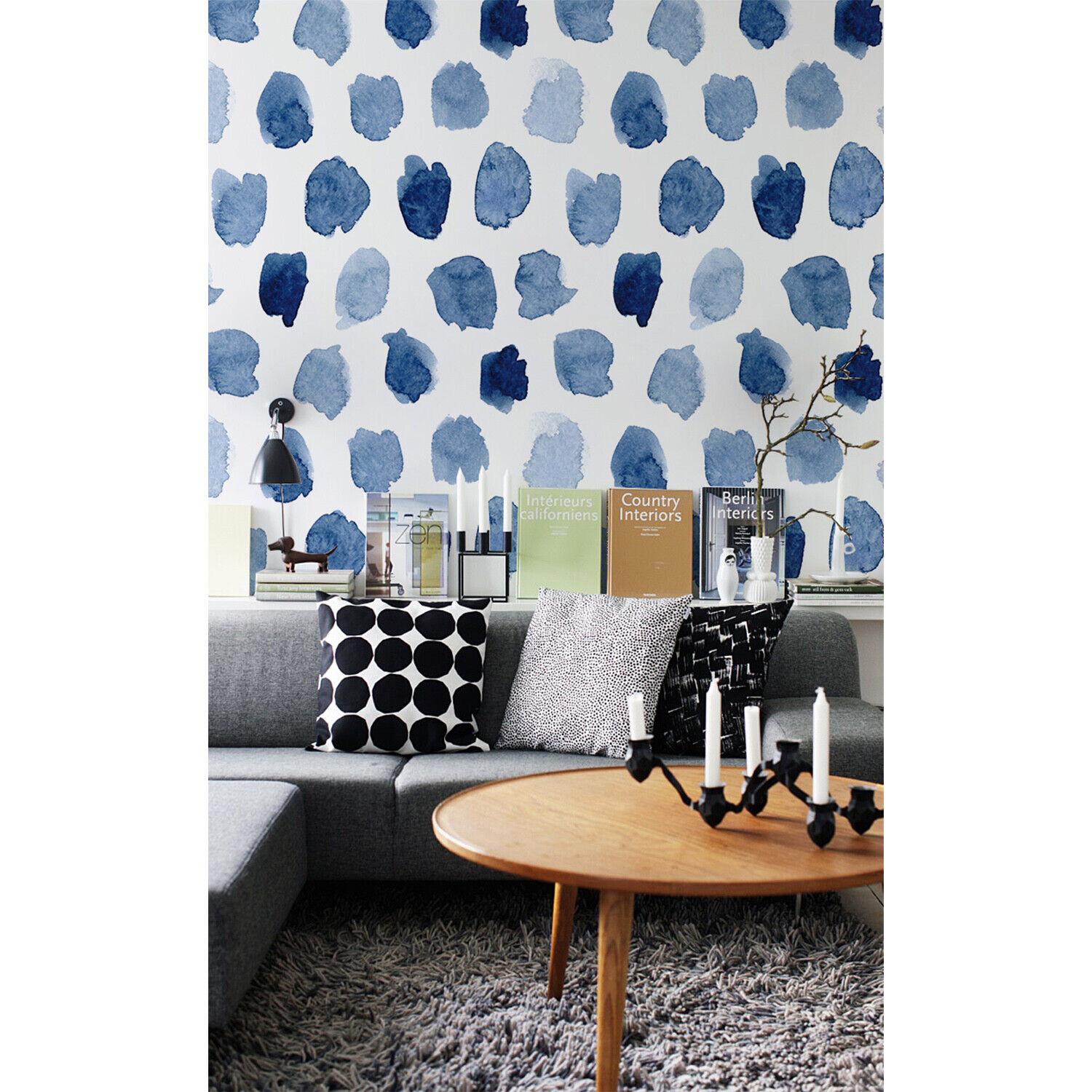 Ink dots Abstract Non-Woven wallpaper Weiß wall Home Mural Traditional Decor