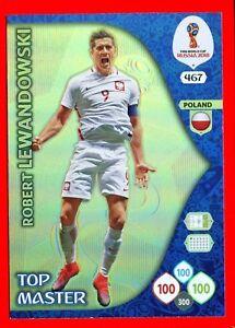 WC-RUSSIA-2018-Panini-Adrenalyn-Card-Top-Master-467-LEWANDOWSKI-POLAND