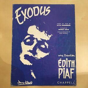 Partition-Piano-Edith-Piaf-Exodus-Etat-Acceptable-Film-d-Otto-Preminger