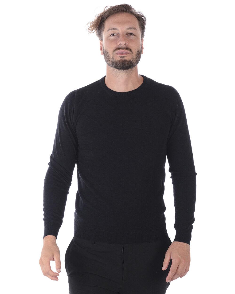 Maglia Maglione Daniele Daniele Daniele Alessandrini Sweater Lana ITALY Uomo Nero FM31220D3706 1 845c0c