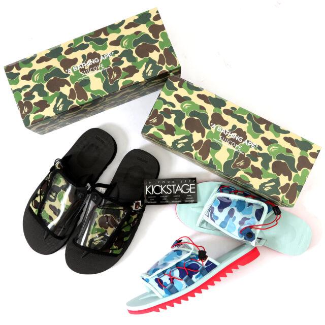 2ddf60c0 Mens a Bathing Ape SUICOKE Kaw-ape Bape Olive Green ABC Camo Sandals Sz 8  for sale online | eBay